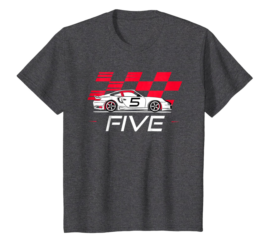 Race Car 5th Birthday T-Shirt Five Year Old Boy Party