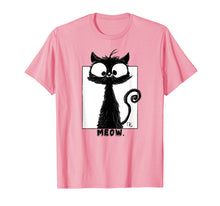 Load image into Gallery viewer, Cute Black Cat T-Shirt Kitty Lovers Big Face Black Cat Shirt