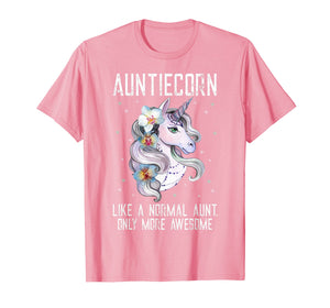 Auntiecorn TShirt Cute Unicorn Lover Mother Day Gift Aunt