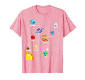 Cute Colorful Planet T Shirt Gift For Kids