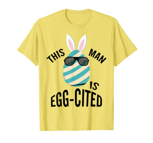 Mens This Guy Is Egg-cited Pregnancy Reveal T shirt Gift