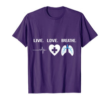 Load image into Gallery viewer, Respiratory Therapist T-Shirt Gift Idea Pulmonologist