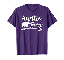 Load image into Gallery viewer, Auntie Bear T Shirt - Gift for Aunt Camping Lovers