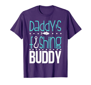 Daddy's Fishing Buddy Funny Father Kid Matching T-shirt