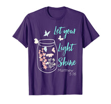 Load image into Gallery viewer, Let Your Light Shine Jar Flowers Butterfly T-Shirt