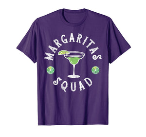 Margarita Squad Funny Cinco de Mayo Men Women Lime Drinking T-Shirt
