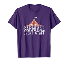 Load image into Gallery viewer, Carnival Event Staff T-Shirt Circus Tent Distressed Tee