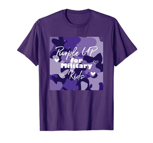 Purple Up For Military Kids Awareness Shirt