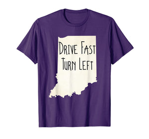 Indiana Drive Fast Turn Left Vintage Look