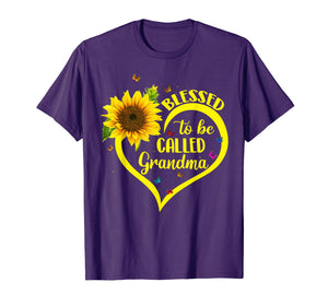 Blessed To Be Called Grandma Sunflower Tshirt
