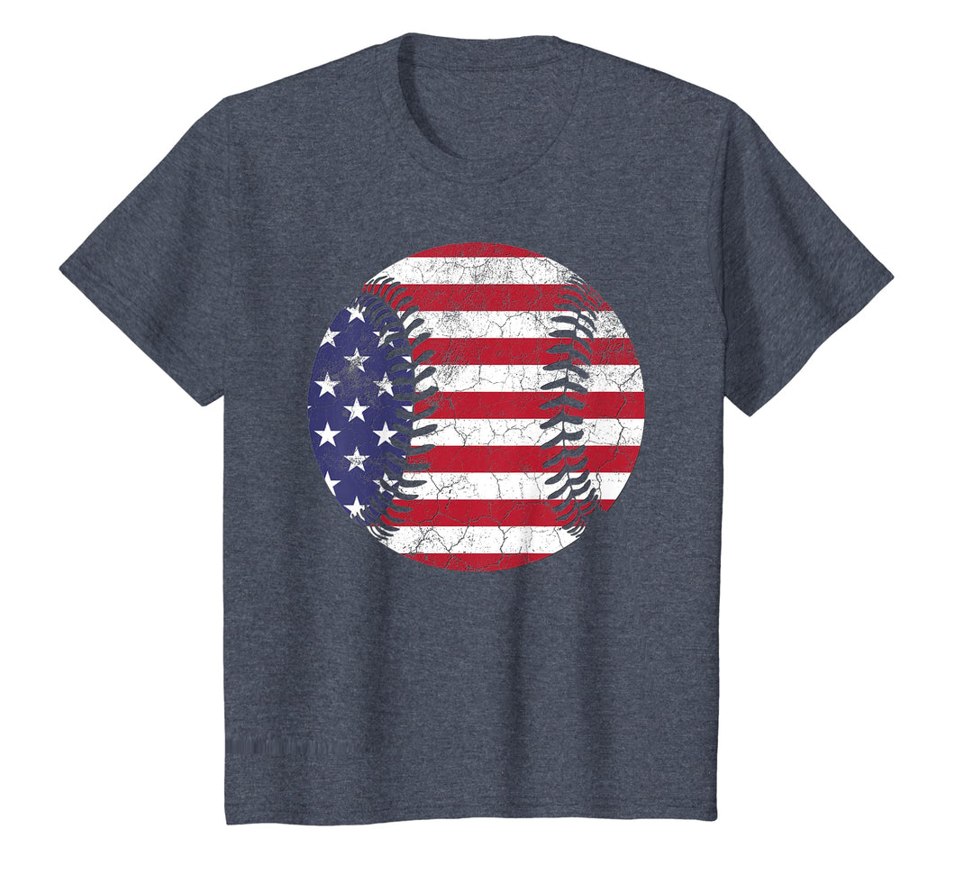 American Flag Baseball Shirt July 4th USA Men Women Kids