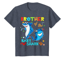 Load image into Gallery viewer, Brother Of The Baby Shark Birthday Brother Shark Shirt