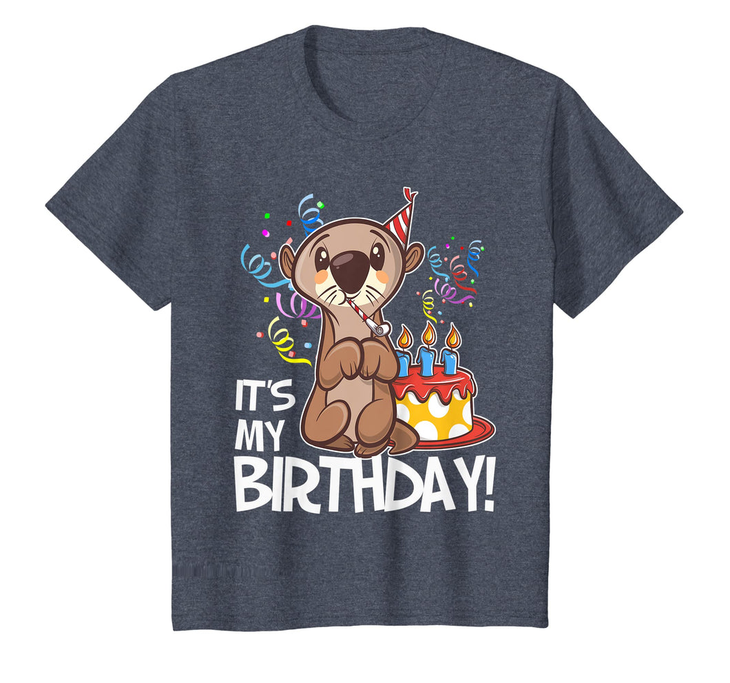 It's My Birthday Otter T Shirt Gift for Girls Boys Adults