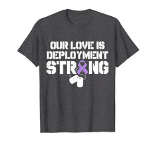 Load image into Gallery viewer, Military Child Month Purple Up Pride Deployment T Shirt