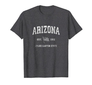Arizona AZ T-Shirt Vintage US Flag Sports Design Tee
