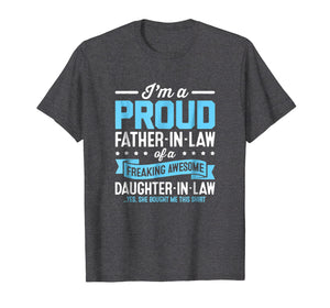 Proud Fathers Day Gifts From Daughter In Law Shirt