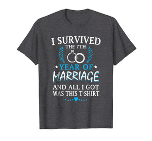 I Survived The 7th Year Of Marriage Wedding T-Shirt