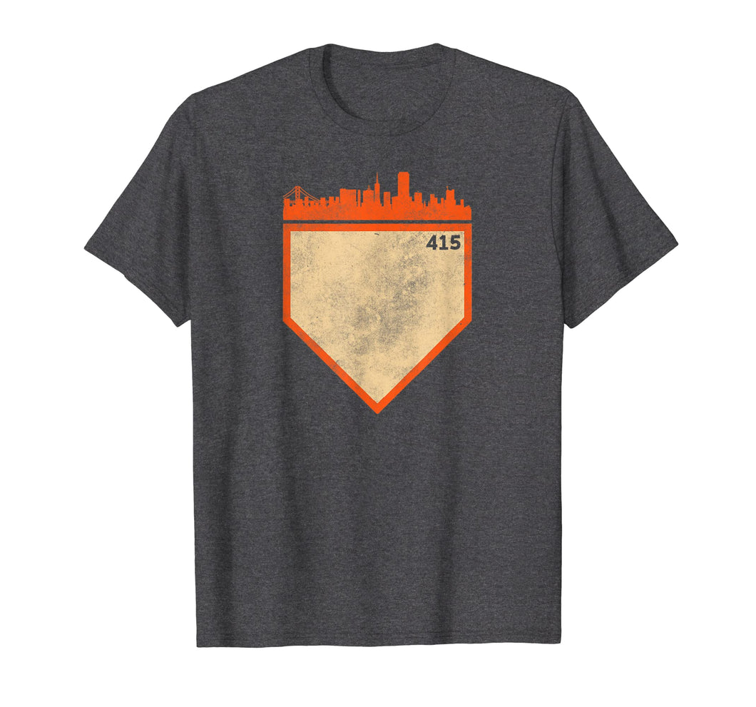 Retro San Francisco Baseball No Plate Like Home 415 T-Shirt