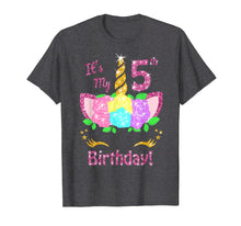 Load image into Gallery viewer, Its My 5th Birthday Unicorn Shirt (5 year old girl gift)