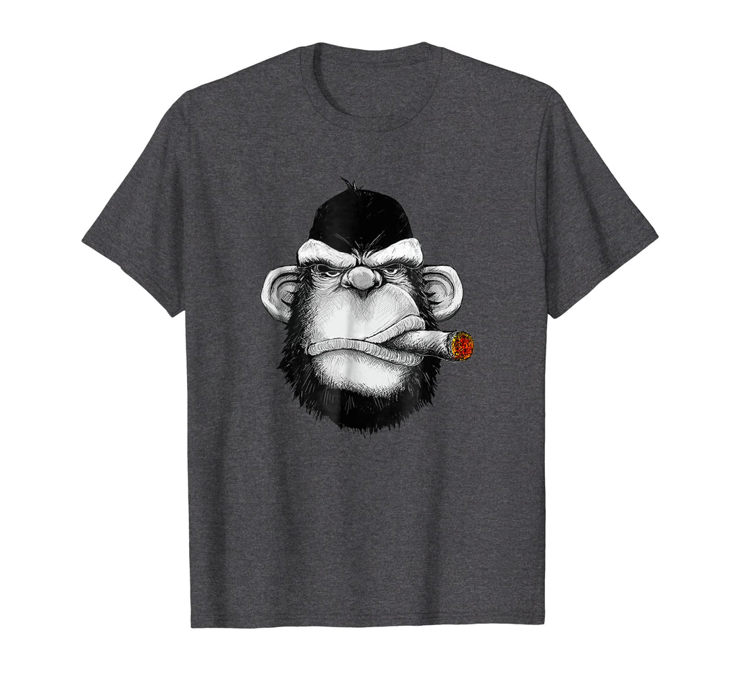 Monkey Cigar Gorilla Smoking Cigarette T-shirt