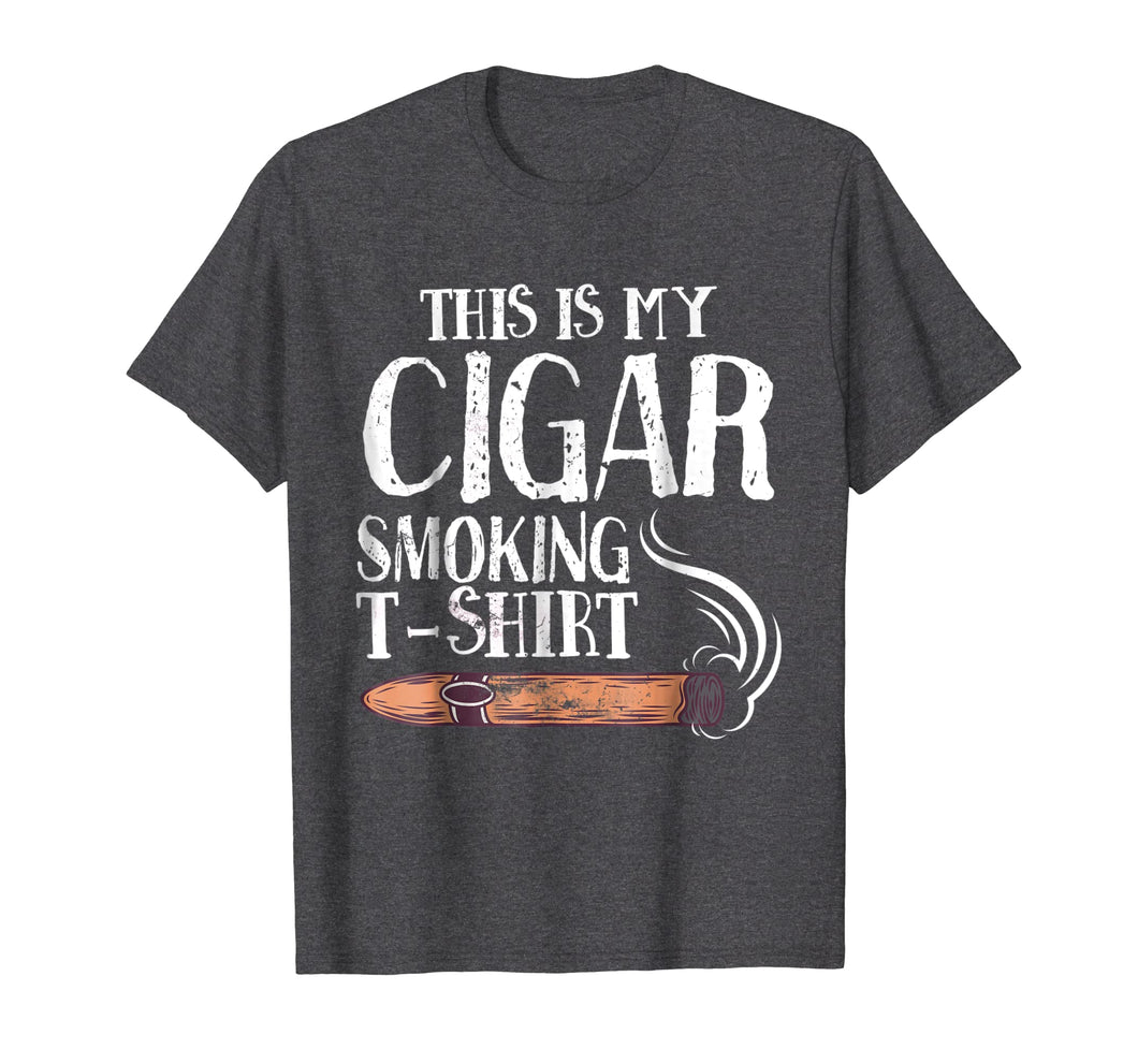 Mens This Is My Cigar Smoking T-Shirt Funny Cigar Smoker T Shirt