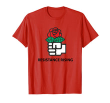 Load image into Gallery viewer, Democratic Socialists of America (DSA) Resistance Rising Tee