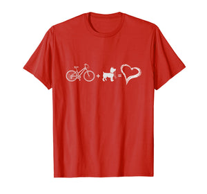 Bike Plus Dog Equals Love For Biking and Dog Lovers Tee
