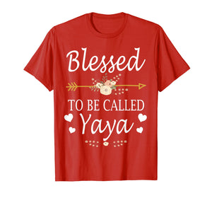 Blessed To Be Called Yaya Mothers Day Gifts T-Shirt