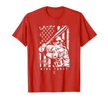 Load image into Gallery viewer, Mike Trout Player Illustration Flag T-Shirt - Apparel