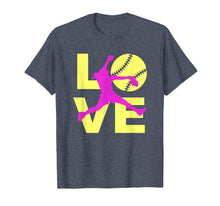 Load image into Gallery viewer, LOVE Softball Teen Girls Women T-shirt