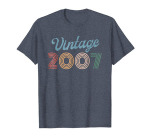 Retro Vintage 2007 80's Style 12 yrs old 12th Birthday Shirt