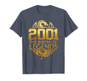 2001 The Birth Of Legends Gift For 18 Yrs Years Old 18th