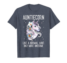 Load image into Gallery viewer, Auntiecorn TShirt Cute Unicorn Lover Mother Day Gift Aunt