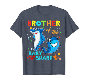 Brother Of The Baby Shark Birthday Brother Shark Shirt