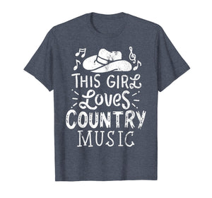 Country Music Lover T-Shirt Western Hat Tee Musician Shirt