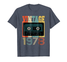 Load image into Gallery viewer, Retro 40th Birthday Tshirt, Vintage 1978, Cassette Tape