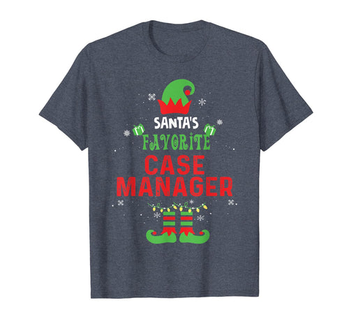 Santa's Favorite Case Manager Christmas Xmas Gift T-Shirt