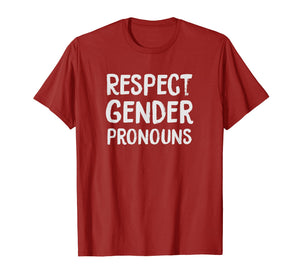 Respect Gender Pronouns LGBTQ Pride Trans T-Shirt