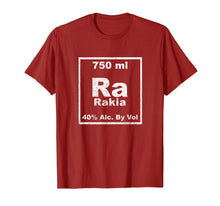 Load image into Gallery viewer, Rakia Periodic Table Element Shirt Funny Chemistry Gifts