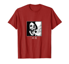 Load image into Gallery viewer, Minimalist japanese t shirt Skull Dope in kanji