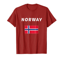 Load image into Gallery viewer, Norway T-shirt Norwegian Tee Travel Flag Gift Aussie