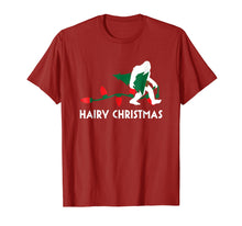 Load image into Gallery viewer, Bigfoot Hairy Christmas Tree Shirt Holiday Sasquatch Gift