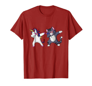 Dabbing Unicorn Dab Cat Cute 4th of July T Shirt Kids Gift