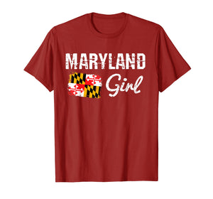 Maryland Flag Shirts Maryland Girl T-Shirt