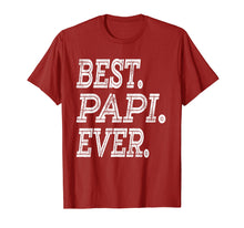 Load image into Gallery viewer, Best Papi Ever T-Shirt Fathers Day Gifts Dad Grandpa Men