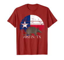 Load image into Gallery viewer, Austin TX Armadillo State Flag Texas Pride shirt T-Shirt