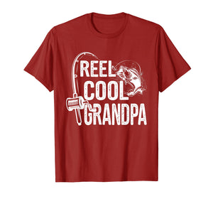 Reel Cool Grandpa T-Shirt Fishing Lover Gift For Fathers Day