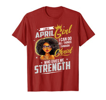 Load image into Gallery viewer, April Girl Birthday Shirt I Can Do All Things Through Christ