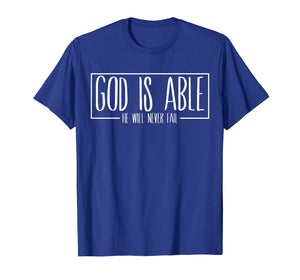 Christian gift ideas God is Able Gospel Bible verse Tshirt