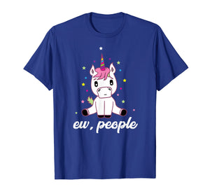 Ew, People Shirt | Cool Introvert Rainbow Unicorns Tee Gift